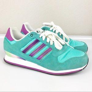 Adidas Originals Teal Purple Unicorn Sneakers